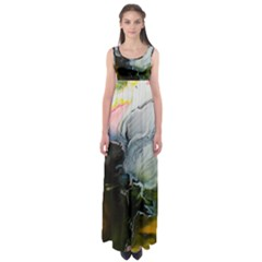 Art Abstract Painting Abstract Empire Waist Maxi Dress