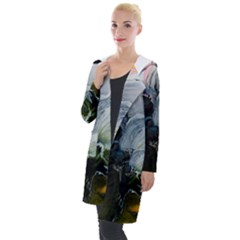 Art Abstract Painting Abstract Hooded Pocket Cardigan
