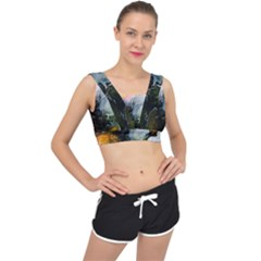 Art Abstract Painting Abstract V Back Sports Bra