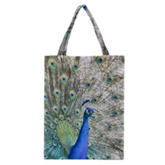 Peacock Bird Colorful Plumage Classic Tote Bag