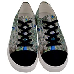 Peacock Bird Colorful Plumage Men s Low Top Canvas Sneakers