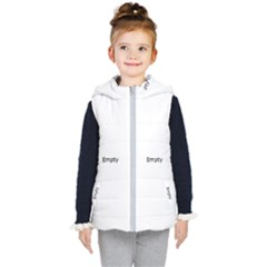 Glittering Sparkling With Tiny Florals And Neon Mandala Kid s Hooded Puffer Vest