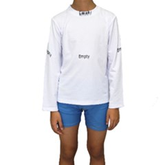 Gum Drops In The Snow Kids  Long Sleeve Swimwear