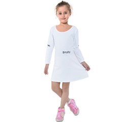 Gum Drops In The Snow Kids  Long Sleeve Velvet Dress
