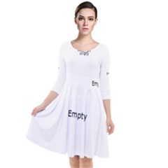 Gum Drops In The Snow Quarter Sleeve Waist Band Dress
