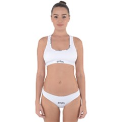 Gum Drops In The Snow Cross Back Hipster Bikini Set