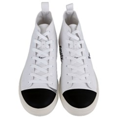 Gum Drops In The Snow Men s Mid Top Canvas Sneakers
