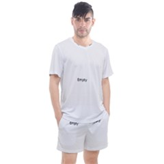 Cute Polar Bear  Men s Mesh Tee And Shorts Set
