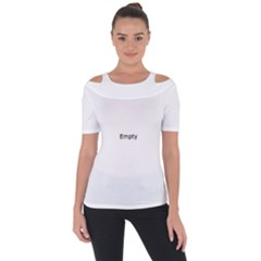 Cute Polar Bear  Shoulder Cut Out Short Sleeve Top
