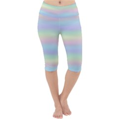 Holographic Foil Pastels Wallpaper Lightweight Velour Cropped Yoga Leggings