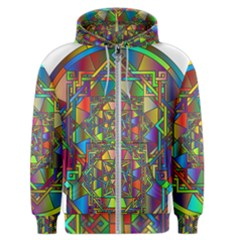 Mandala Star Interlocked Men s Zipper Hoodie
