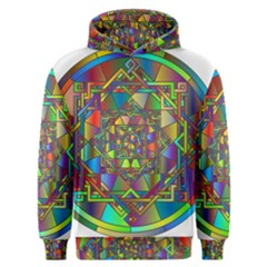 Mandala Star Interlocked Men s Overhead Hoodie