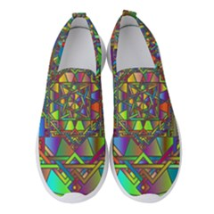 Mandala Star Interlocked Women s Slip On Sneakers