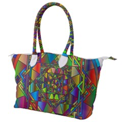 Mandala Star Interlocked Canvas Shoulder Bag