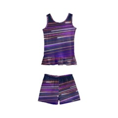 Abstract Cosmos Space Particle Kid s Boyleg Swimsuit