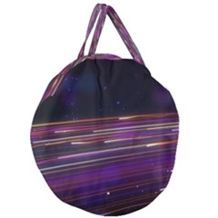Abstract Cosmos Space Particle Giant Round Zipper Tote