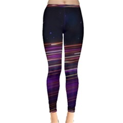Abstract Cosmos Space Particle Inside Out Leggings