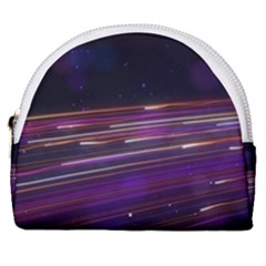 Abstract Cosmos Space Particle Horseshoe Style Canvas Pouch