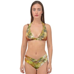 Autumn Kaleidoscope Art Pattern Double Strap Halter Bikini Set by Wegoenart