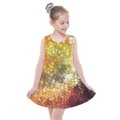 Autumn Kaleidoscope Art Pattern Kids  Summer Dress