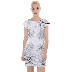 Tree Knots Bark Kaleidoscope Cap Sleeve Bodycon Dress by Wegoenart