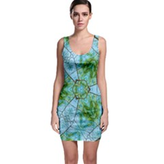 Forest Kaleidoscope Pattern Bodycon Dress by Wegoenart