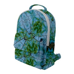 Forest Kaleidoscope Pattern Flap Pocket Backpack (large)
