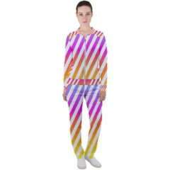Abstract Lines Mockup Oblique Casual Jacket And Pants Set by Wegoenart