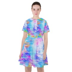 Background Drips Fluid Colorful Sailor Dress