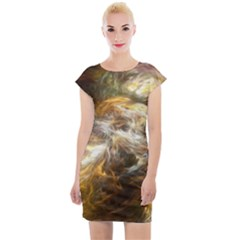 Fractal Background Color Colorful Cap Sleeve Bodycon Dress