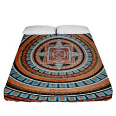 Mandala Art Painting Acrylic Fitted Sheet (queen Size)