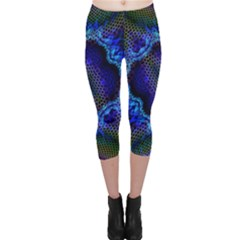 Kaleidoscope Art Pattern Ornament Capri Leggings