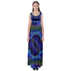 Kaleidoscope Art Pattern Ornament Empire Waist Maxi Dress