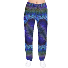 Kaleidoscope Art Pattern Ornament Velvet Drawstring Pants