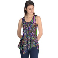 Abstract Background Sleeveless Tunic