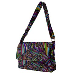 Abstract Background Full Print Messenger Bag