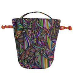 Abstract Background Drawstring Bucket Bag
