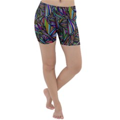 Abstract Background Lightweight Velour Yoga Shorts