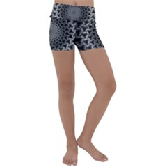 Pattern Abstract Graphic District Kids  Lightweight Velour Yoga Shorts