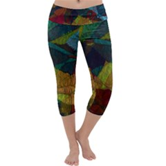 Background Color Template Abstract Capri Yoga Leggings