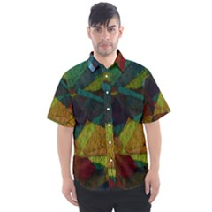 Background Color Template Abstract Men s Short Sleeve Shirt