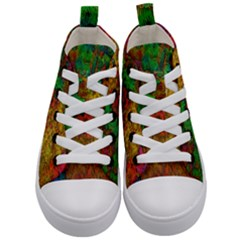 Background Color Template Abstrac Kid s Mid Top Canvas Sneakers