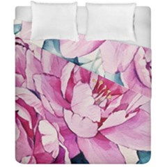 Art Painting Flowers Peonies Pink Duvet Cover Double Side (california King Size) by Wegoenart