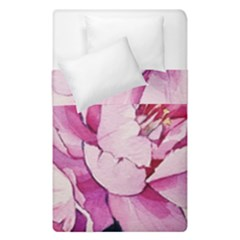 Art Painting Flowers Peonies Pink Duvet Cover Double Side (single Size) by Wegoenart