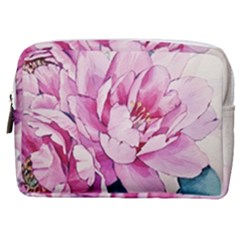 Art Painting Flowers Peonies Pink Make Up Pouch (medium)