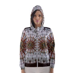 Dome Glass Architecture Glass Dome Hooded Windbreaker (women)