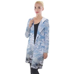 Coast Beach Shell Conch Water Hooded Pocket Cardigan