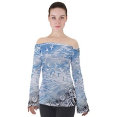 Coast Beach Shell Conch Water Off Shoulder Long Sleeve Top