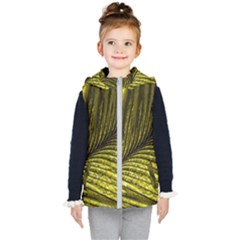Feather Macro Bird Plumage Nature Kid s Hooded Puffer Vest