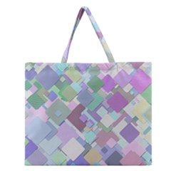 Colorful Background Multicolored Zipper Large Tote Bag